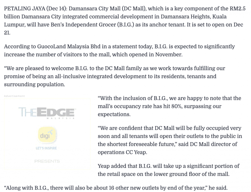 B.I.G.-to-be-anchor-tenant-of-Damansara-City-Mall-dc-residensi